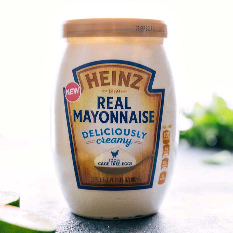 Image of the Heinz mayo that goes into the dressing for this Peruvian style chicken