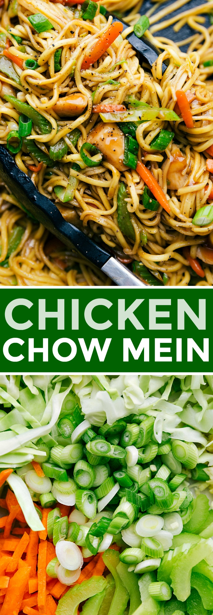 Easy 30-minute chicken chow mein with tender chicken bites, plenty of veggies, and an addictive savory sauce coating it all. Today I'm sharing all my tips and tricks for how to make chicken chow mein BETTER than takeout! This is sure to be a hit! Recipe via chelseasmessyapron #eay #chinese #best #withcabbage