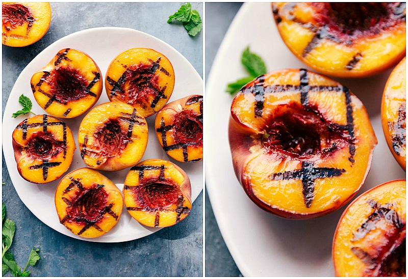 Image of Grilled Peaches fresh off the grill