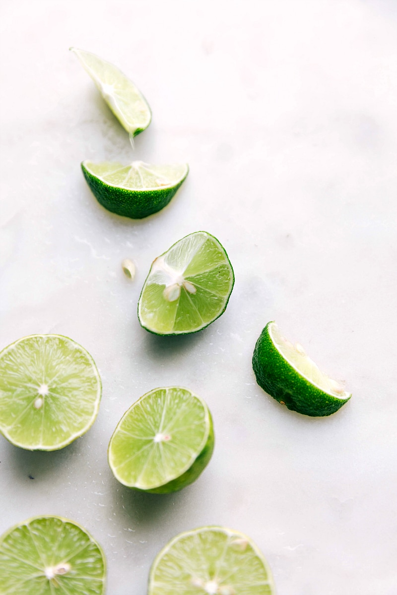 Image of key limes that we use for this best key lime pie recipe
