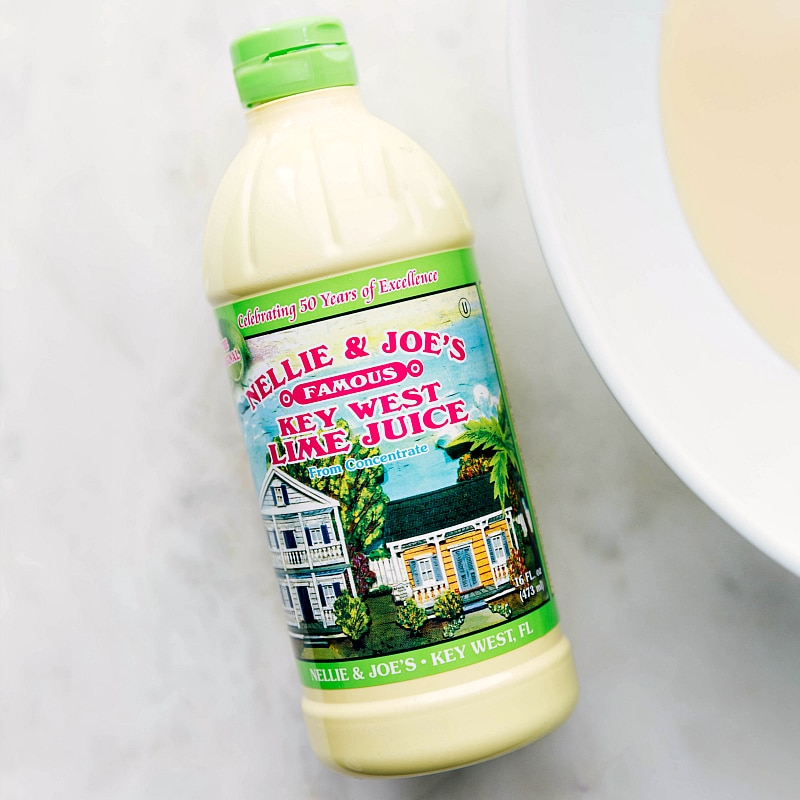Image of the key lime juice we use for this key lime pie