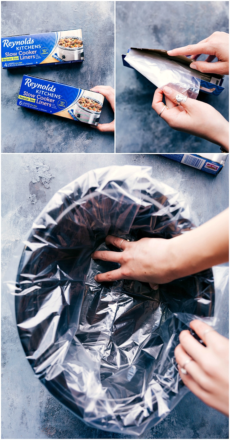 Images of the reynolds slow cooker covers that help keep your crockpot clean when using it