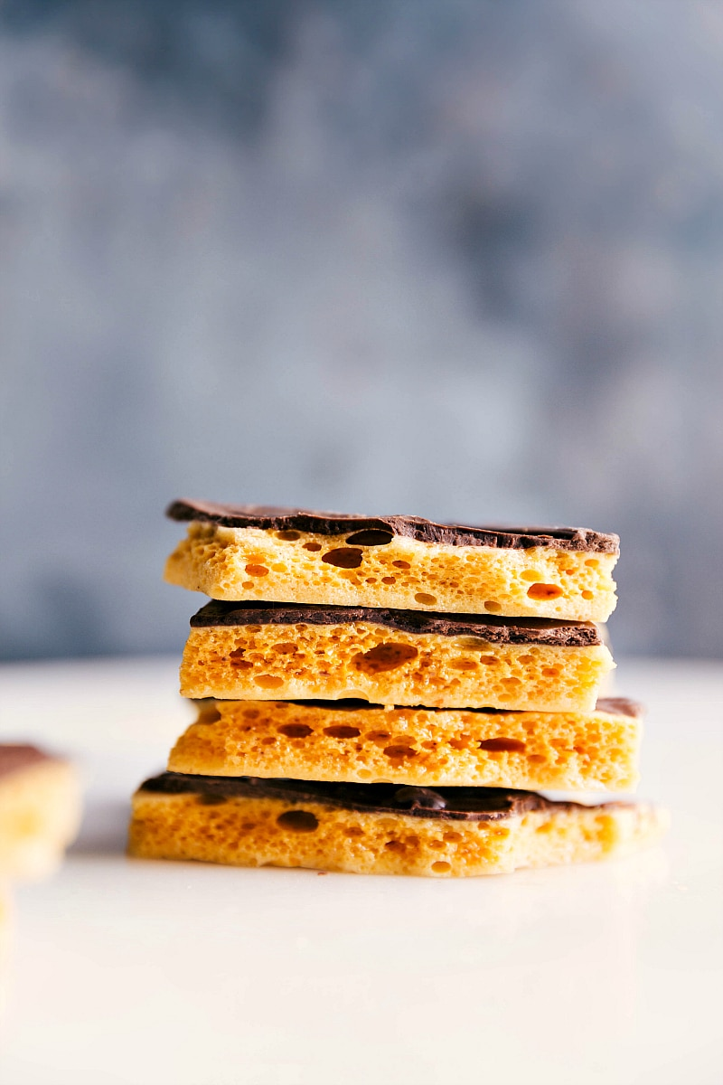 Stacks of Honeycomb Candy