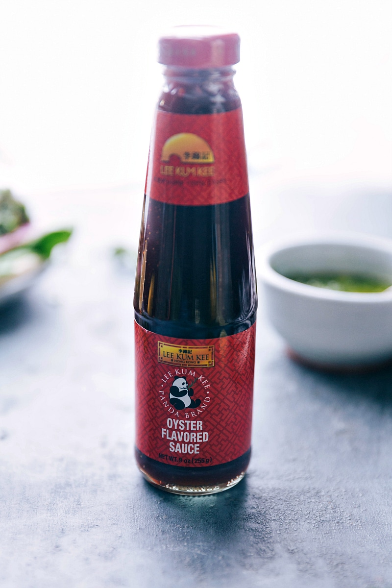 Image of the oyster sauce that is used in this recipe