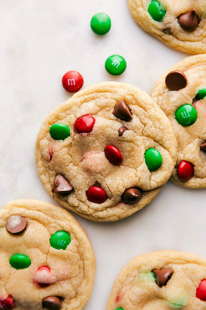 Overhead image of completed Santa Cookies.