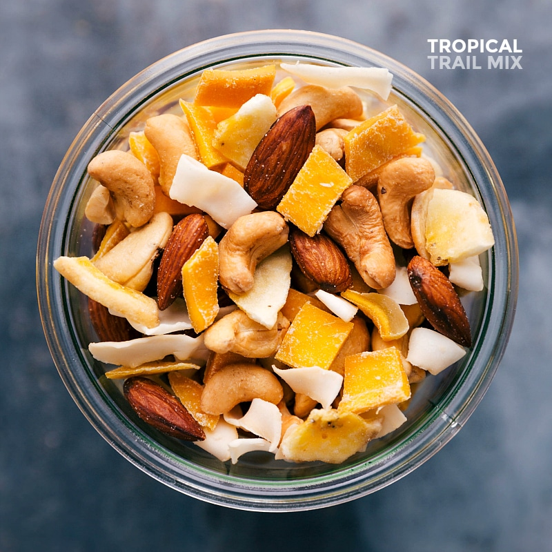 Overhead view of Tropical Trail Mix.