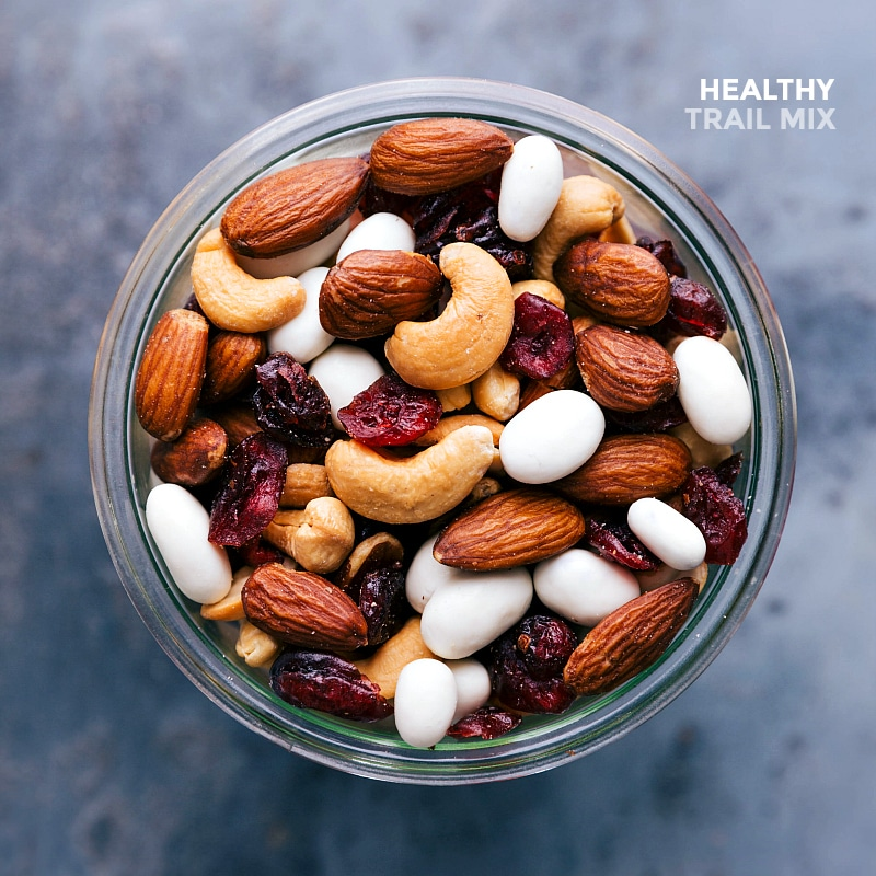 Overhead view of Healthy Trail Mix.