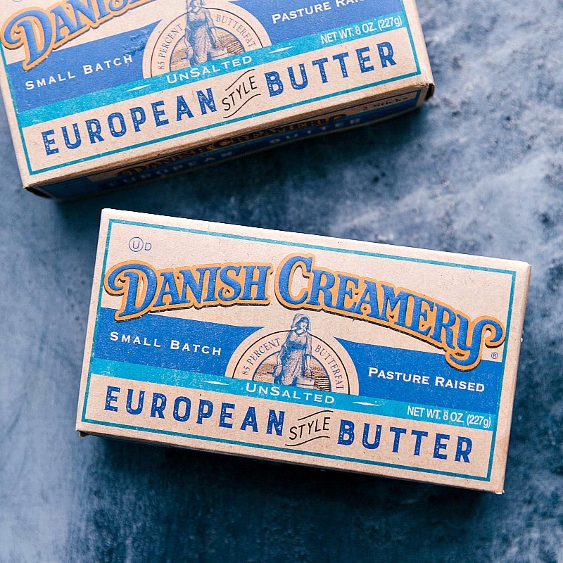 Two packages of Danish Creamery butter, the sponsors of this post.