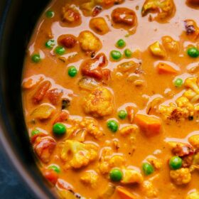 Sweet Potato Coconut Curry Soup (With Chickpeas!)