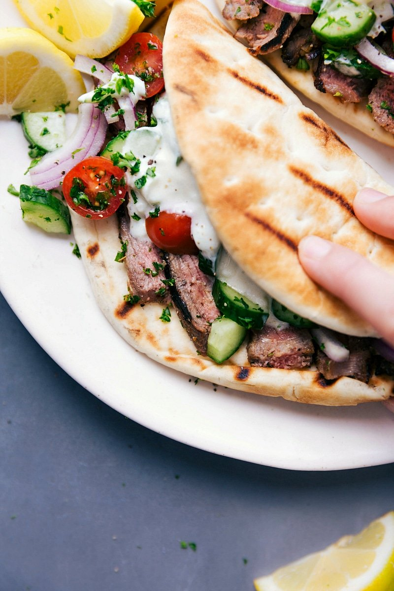 Steak Gyros Best Tzatziki Sauce Chelsea S Messy Apron
