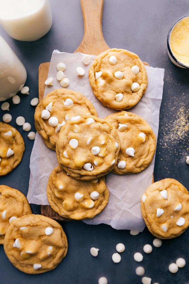 Overhead image of Cornmeal Cookies