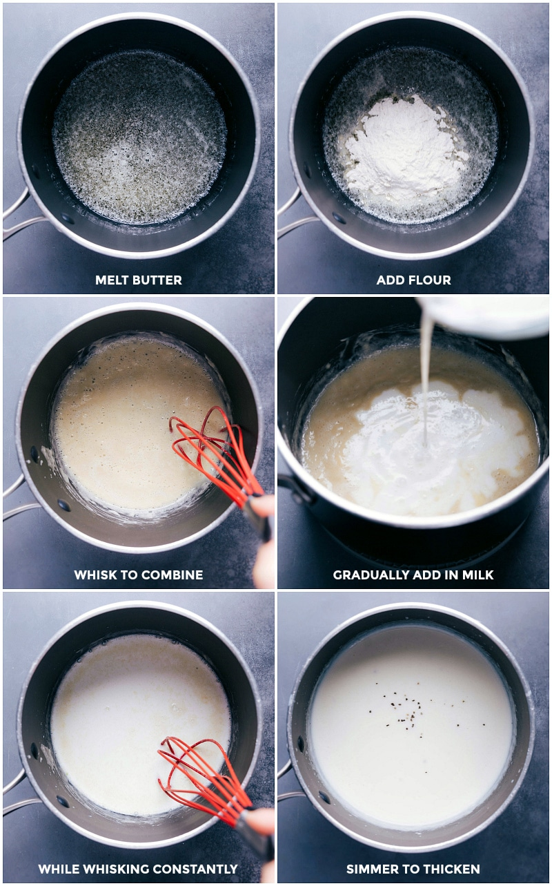Process shots-- images of the cream base being made for this soup