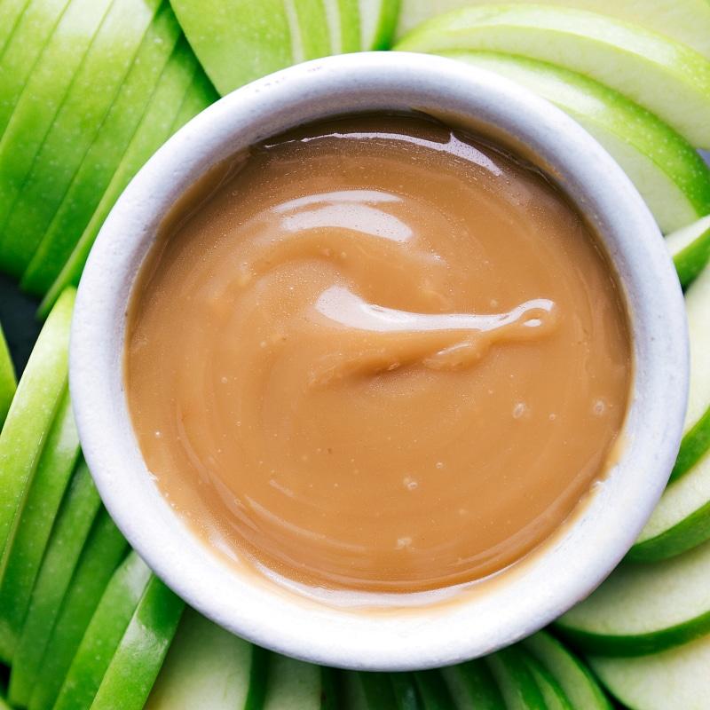 Close-up view of Caramel Sauce.
