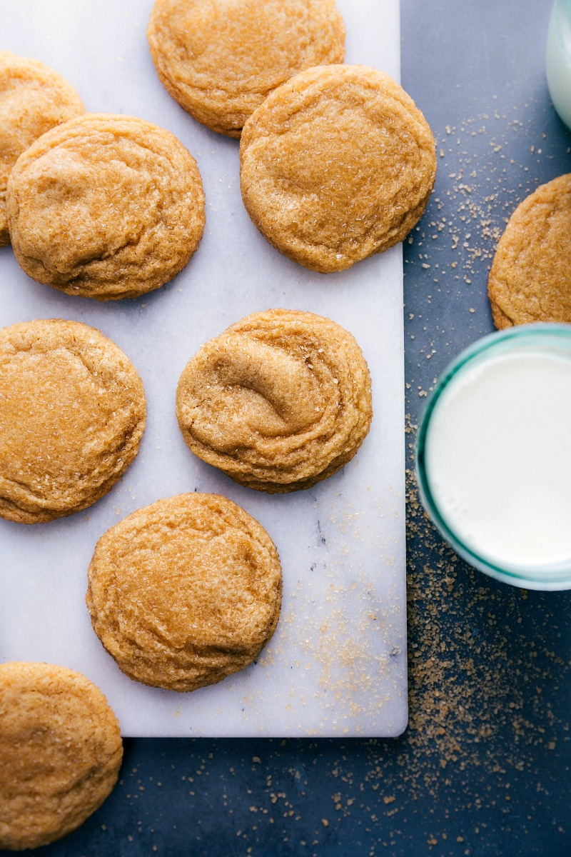 Up-close overhead image of the Brown Sugar Cookies