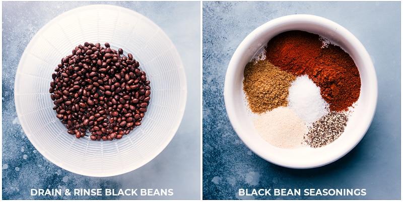 Ingredients for Black Bean Wraps