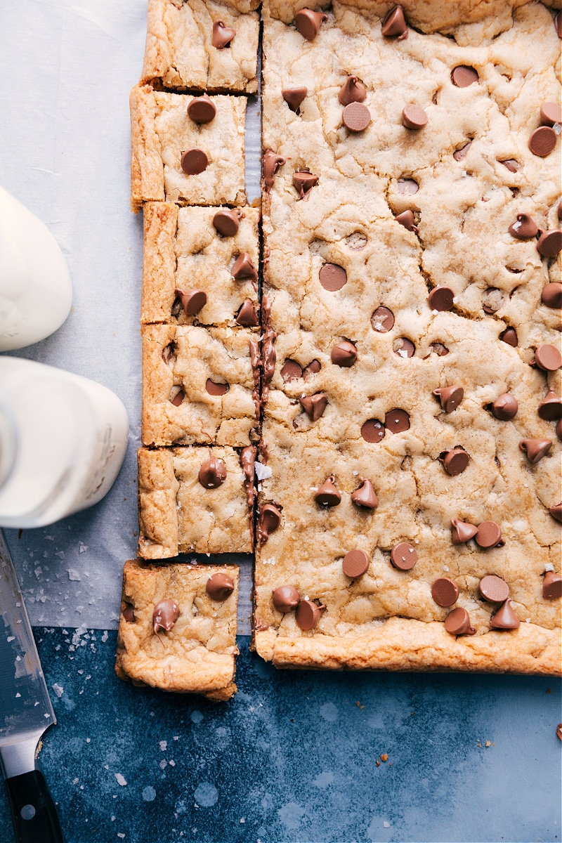 Overhead image of Cookie Bars.