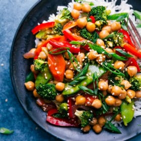 General Tso Chickpeas