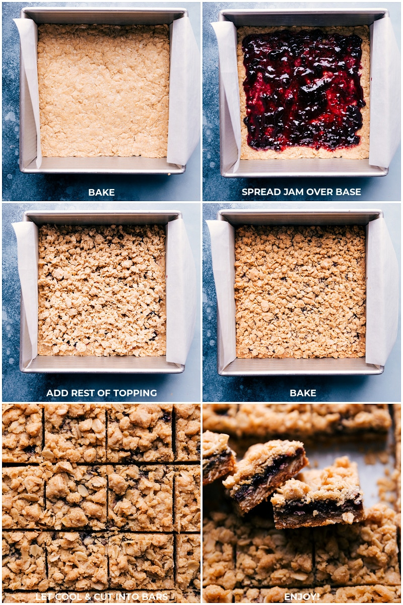 Process shots--Oatmeal Jam Bars