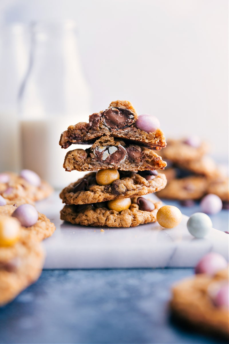 A stack of Easter Cookies
