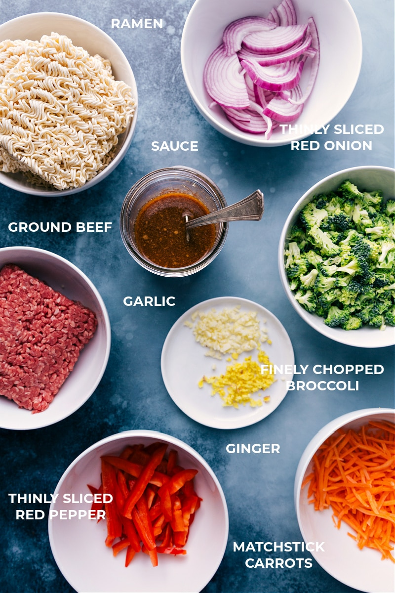Image of all the ingredients that go in this dish