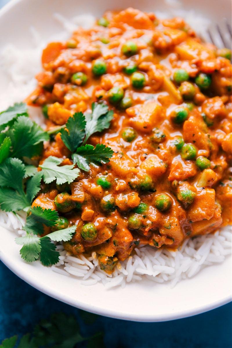 Vegetable Masala over Basmati rice