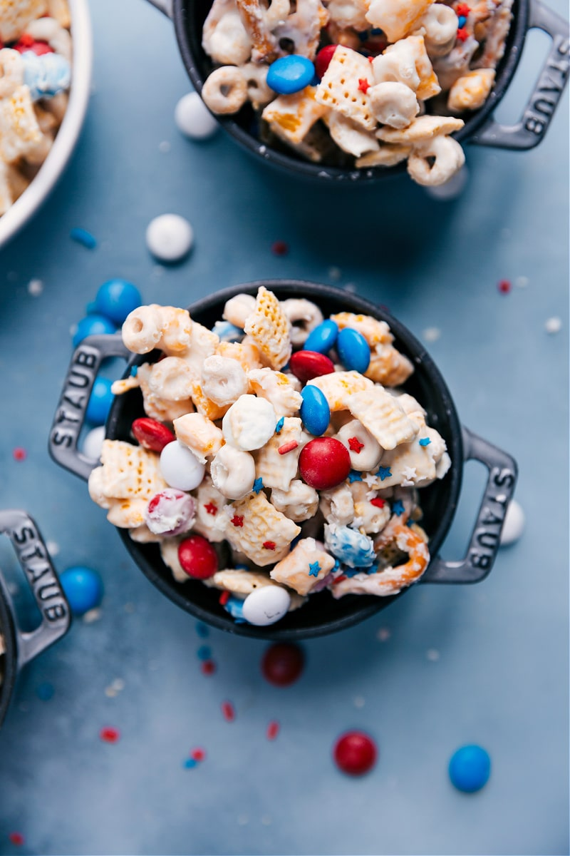 A bowl of 4th of July Snack Mix