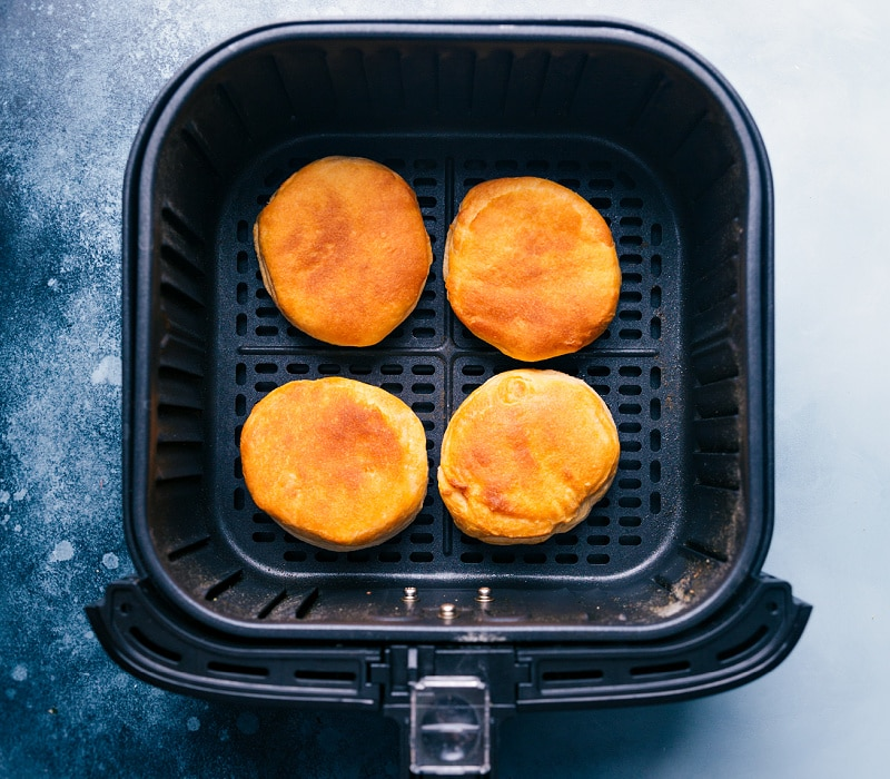 Baked biscuits in the air fryer