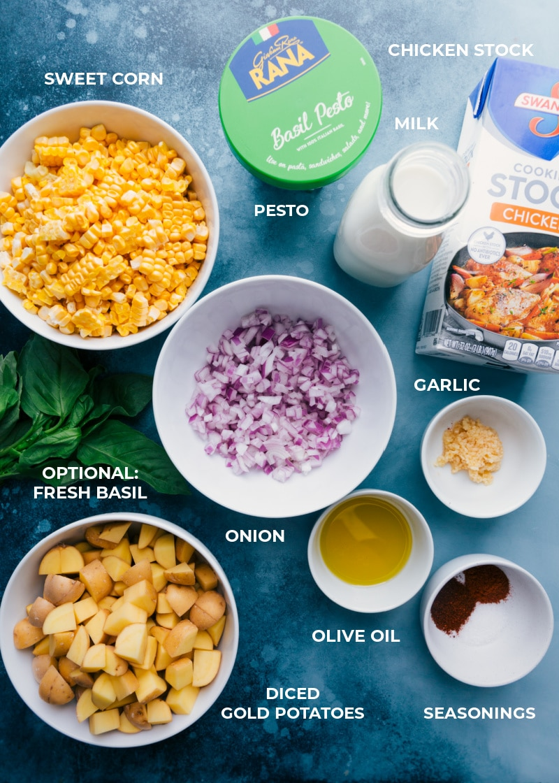 Ingredient shot-- image of all the ingredients used in this dish
