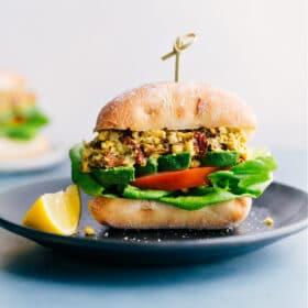Pesto Chickpea Sandwiches