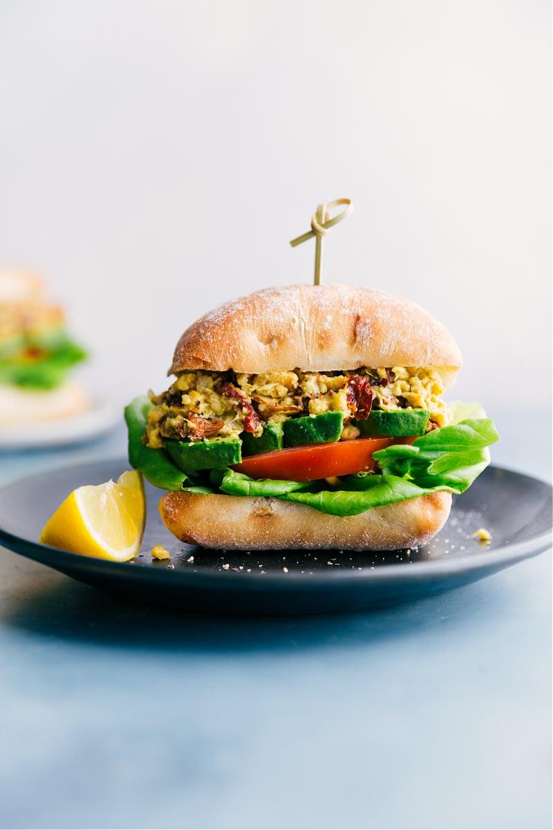 Pesto Chickpea Sandwich
