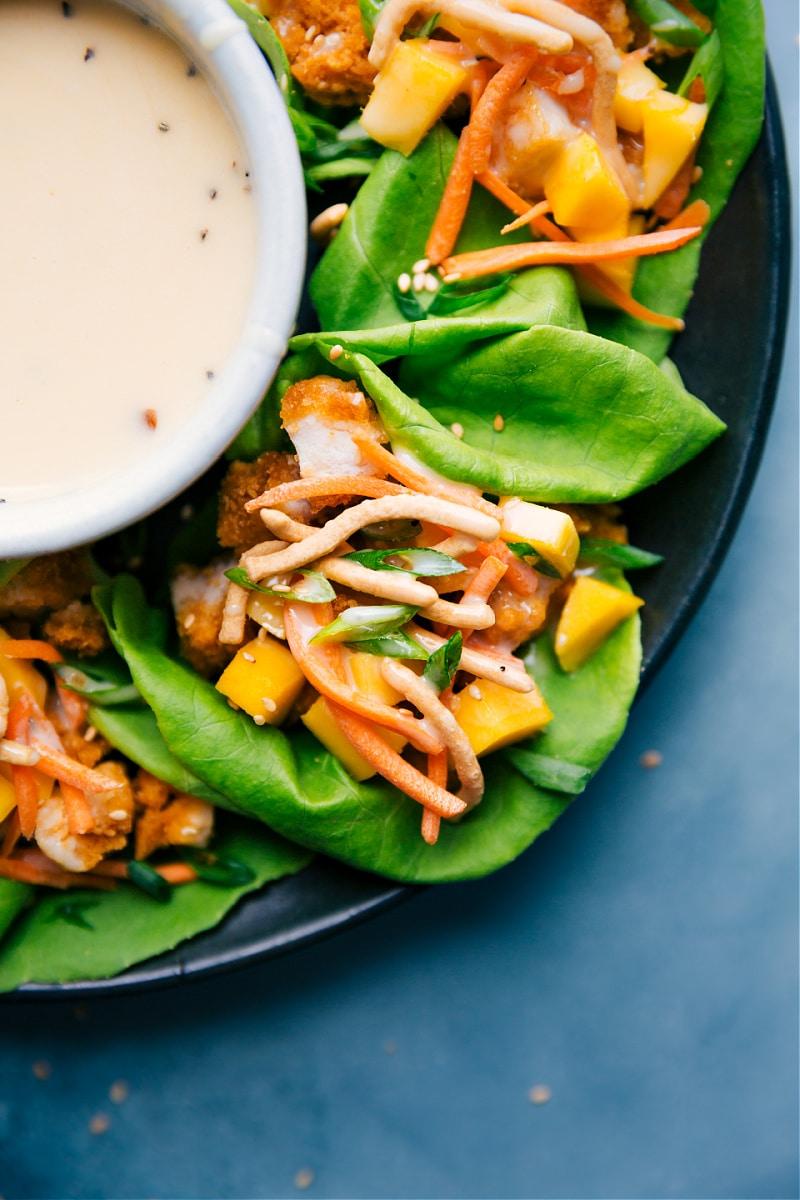 Asian Chicken Lettuce Wraps