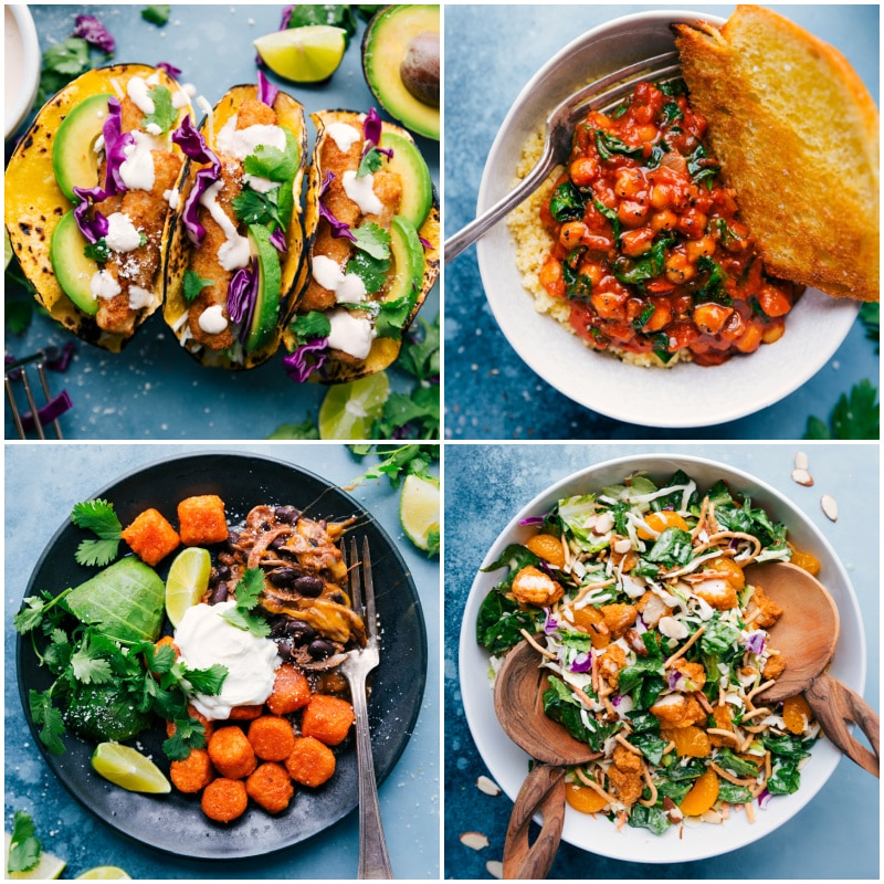 Collage of back-to-school menu ideas