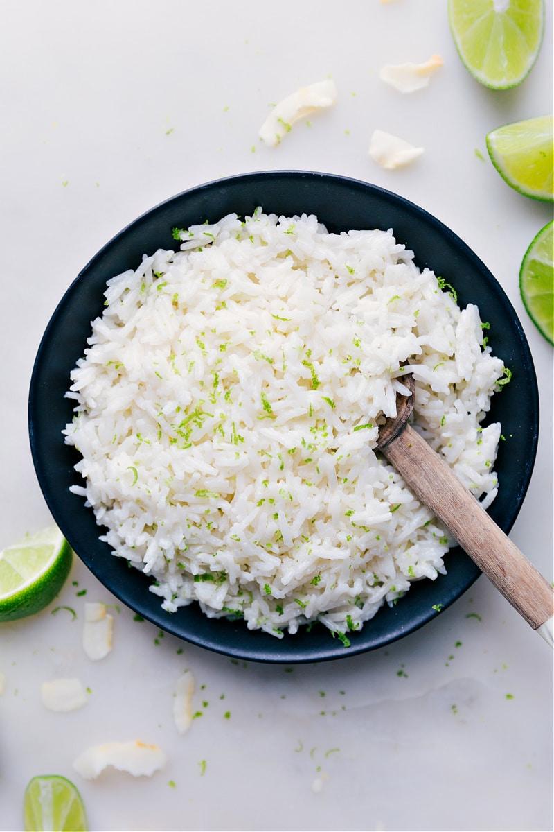 Overhead image of Coconut Rice