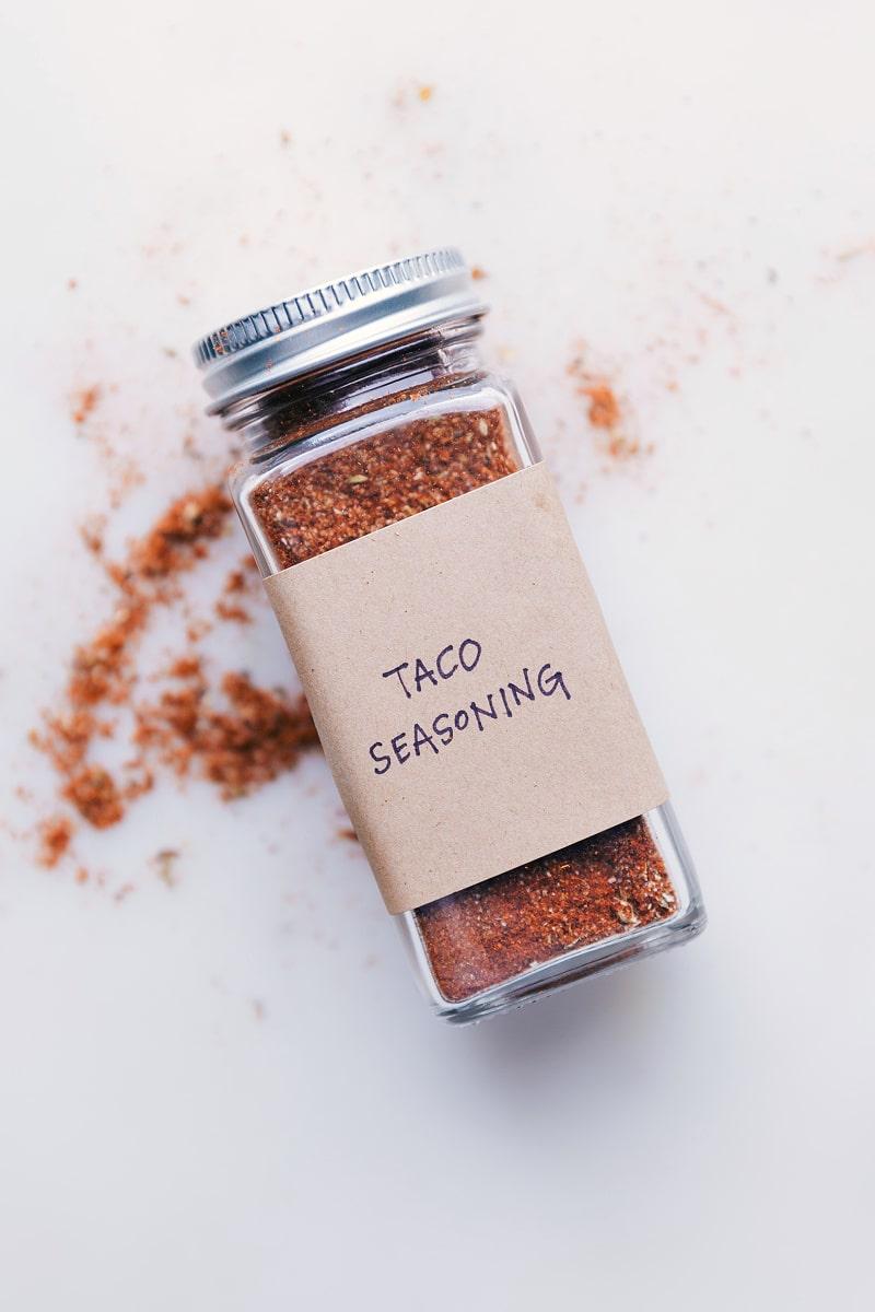 Image of a jar full of Taco Seasoning