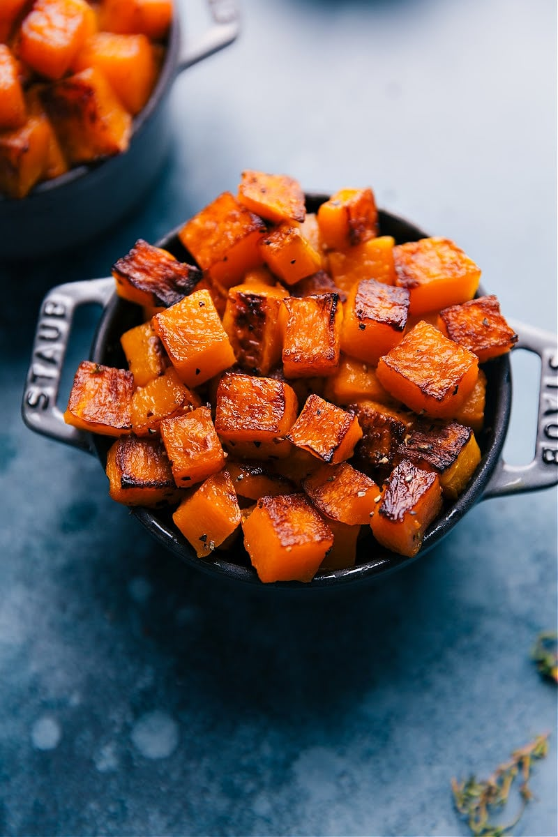 Image of a bowl of the squash fresh out of the oven