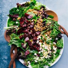 Beet Goat Cheese Walnut Salad